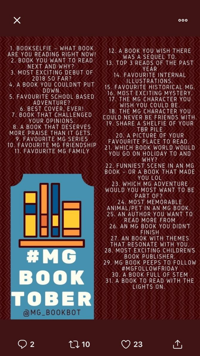 Day Two #MGBooktober