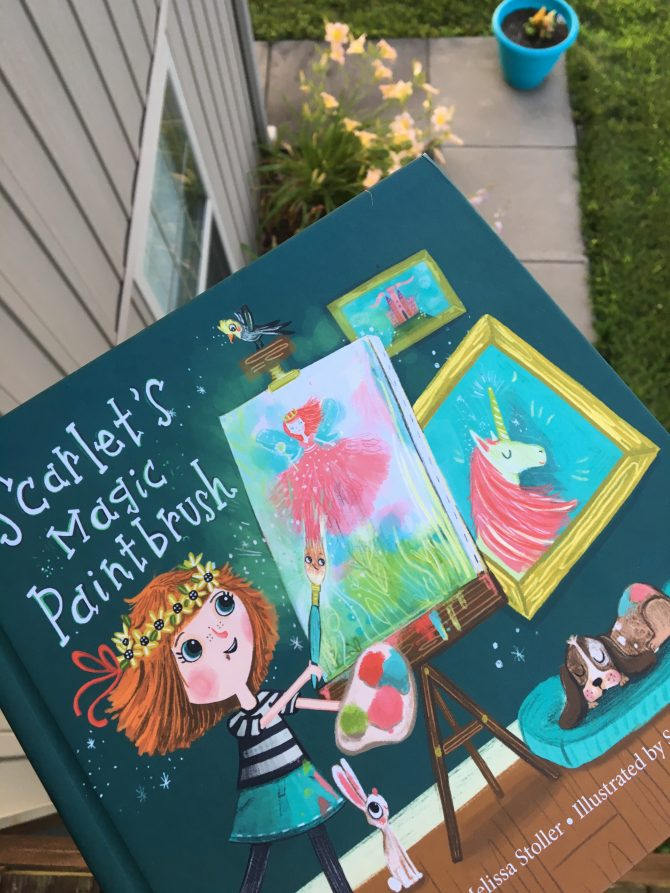 Mini Review: Scarlet's Magic Paintbrush by Melissa Stoller and Illustrated by Sandie Sonke