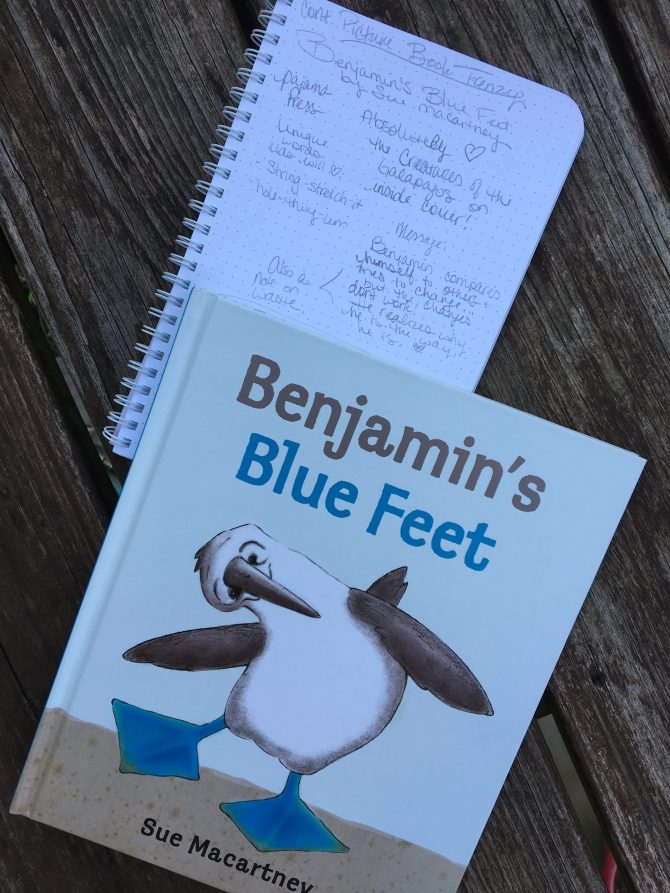 Picture Book Frenzy: Benjamin's Blue Feet by Sue Macartney