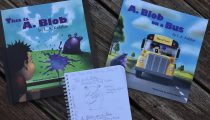 Picture Book Frenzy: This is A. Blog by L.A. Kefalos and illustrated by Yuriy  and A. Blob on a Bus by Kefalos and illustrated by Jeffrey Burns