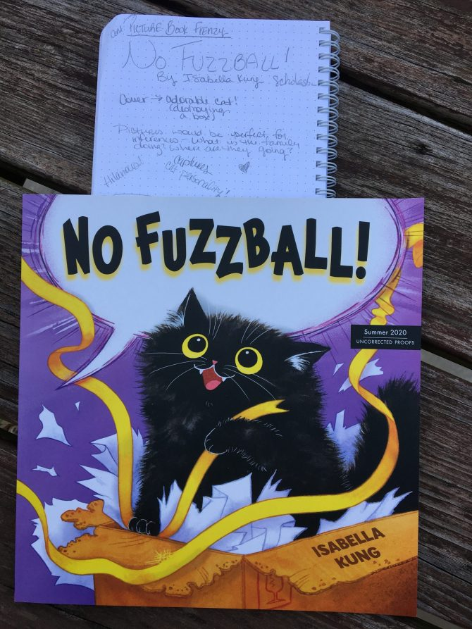 Picture Book Frenzy: No Fuzzball! By Isabella Kung